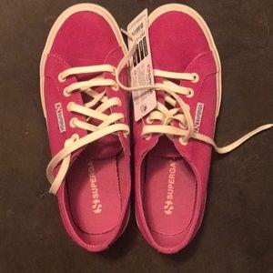 Hot pink Superga sneakers